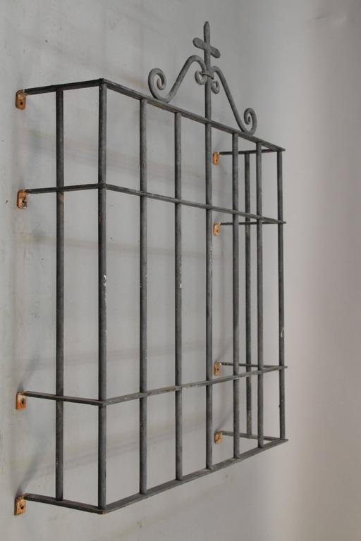 Spanish Colonial 1920s Wrought Iron Window Grill For Sale
