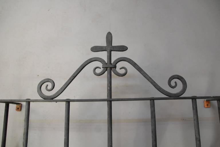 American 1920s Wrought Iron Window Grill For Sale
