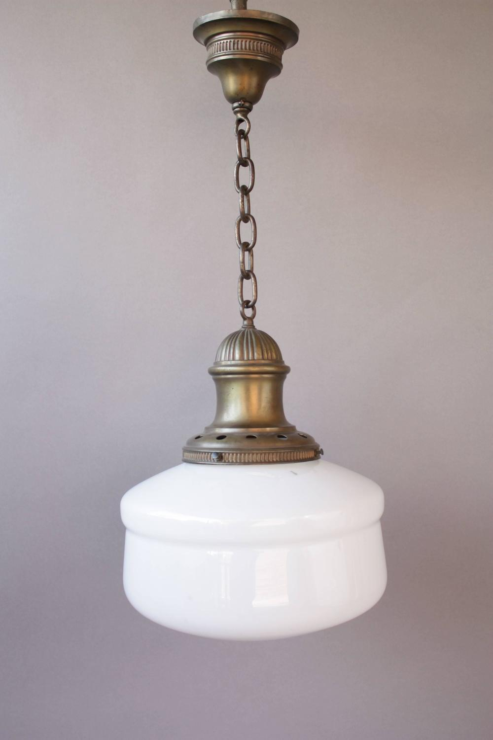 1920s bathroom light fixtures simple 1920s brass school house pendant at 1stdibs 15263