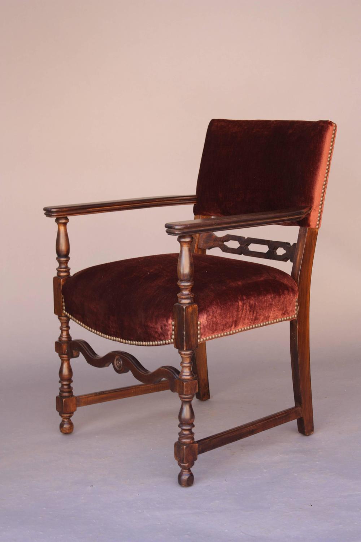 1920s Elegant Spanish Revival Walnut Armchair at 1stdibs