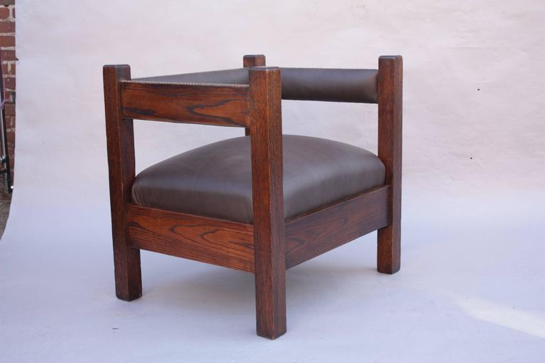 Antique Arts And Crafts Mission Cube Chair For Sale At 1stdibs