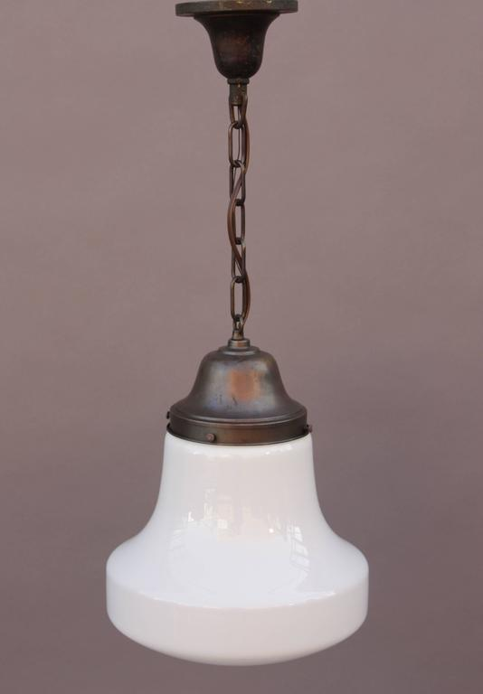 1930s Milk Glass Pendant Light At 1stdibs
