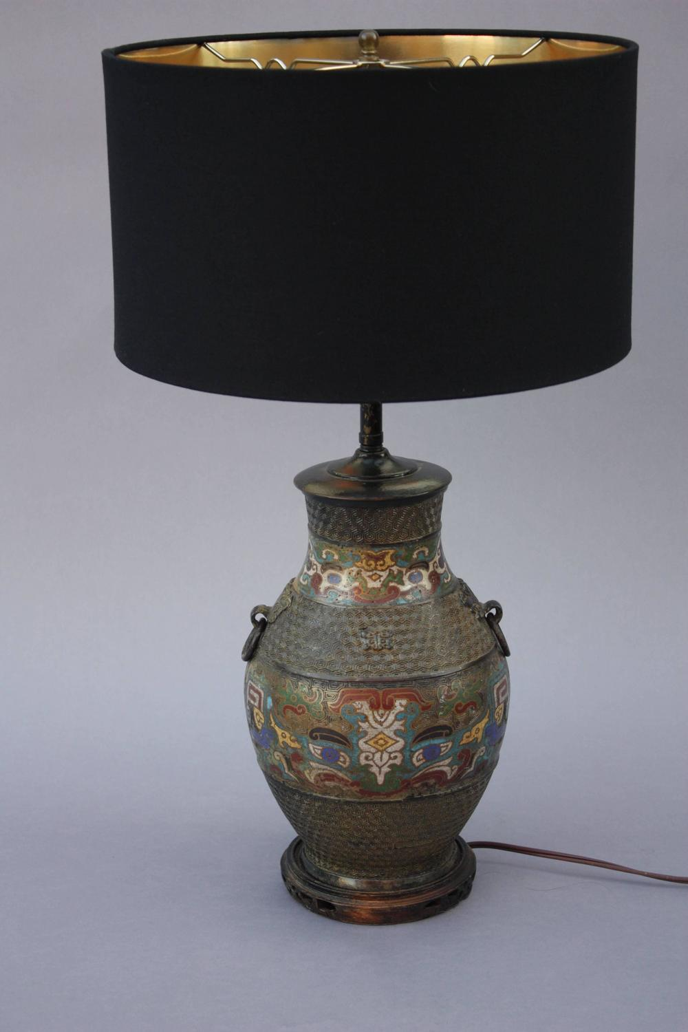 Antique Cloisonne Table Lamp For Sale At 1stdibs