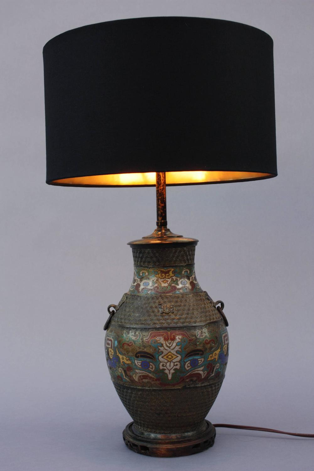 antique cloisonne table lamp for sale at 1stdibs. Black Bedroom Furniture Sets. Home Design Ideas
