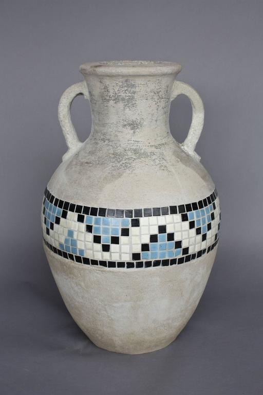 Very Rare 1930s California Hillside Pottery Handled Urn At
