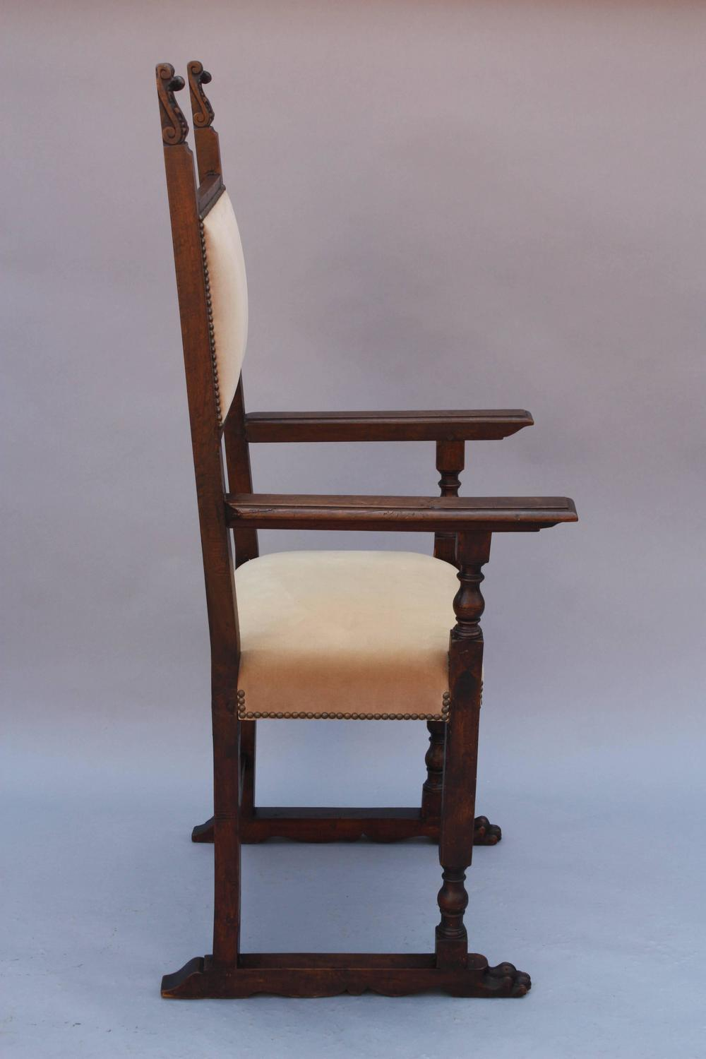 Pair of 1920s Tall Spanish Revival Armchairs at 1stdibs