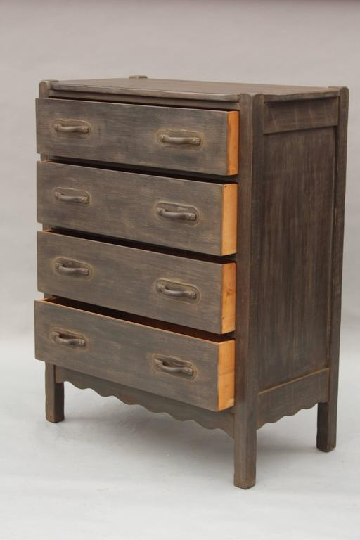 North American Signed Antique Rancho Monterey High Boy Dresser For