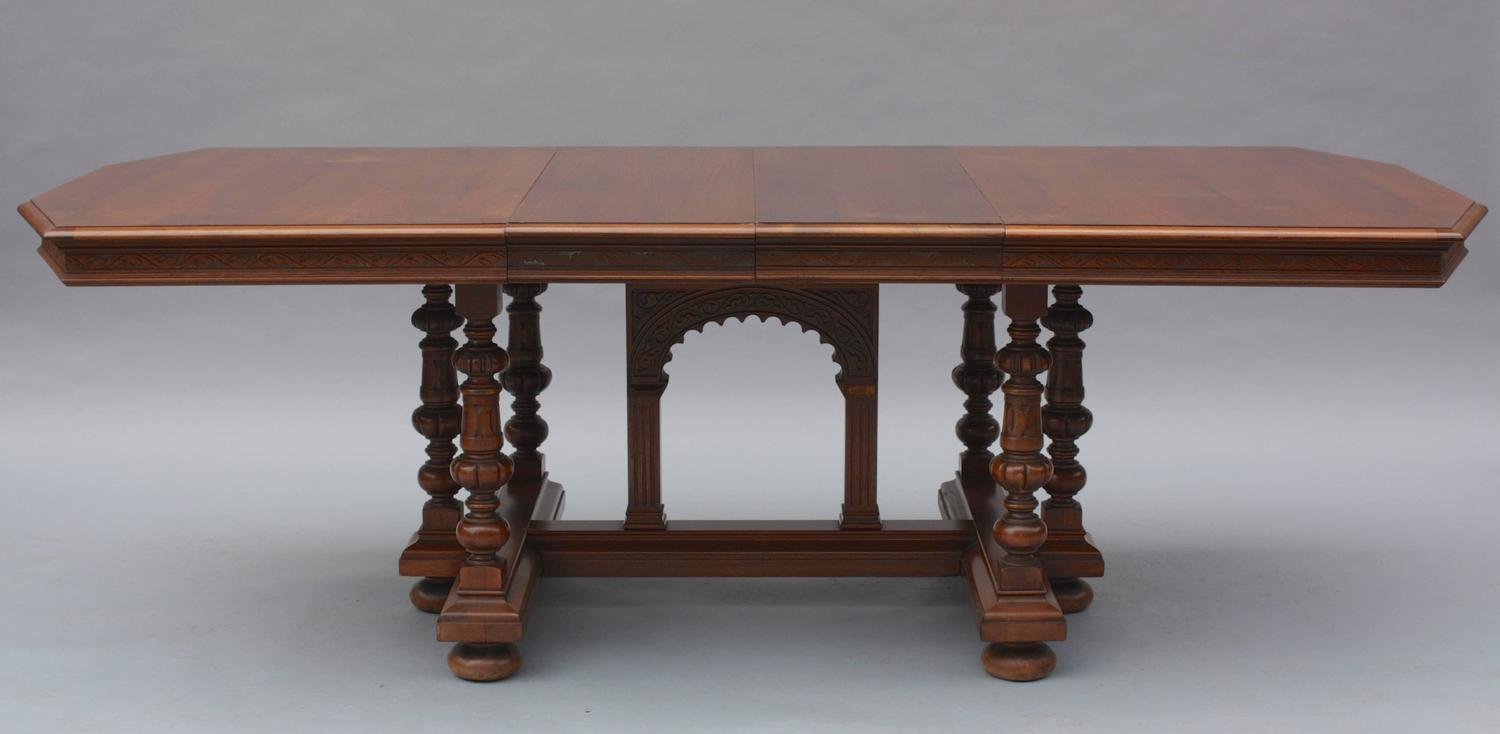 1920s spanish revival dining table with leaves for sale at for Most beautiful dining room tables