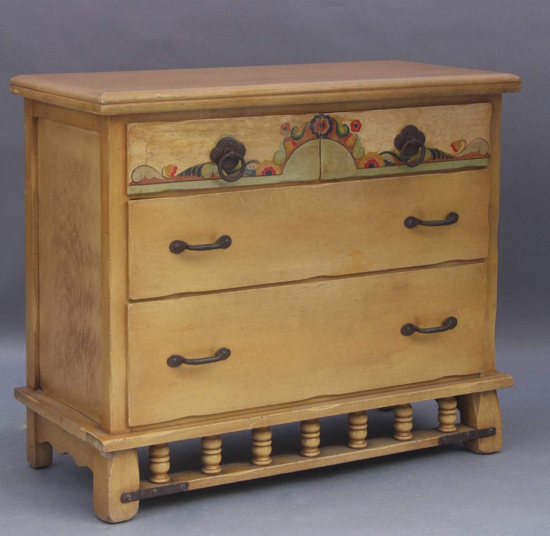 1930s hand painted monterey dresser for sale at 1stdibs. Black Bedroom Furniture Sets. Home Design Ideas