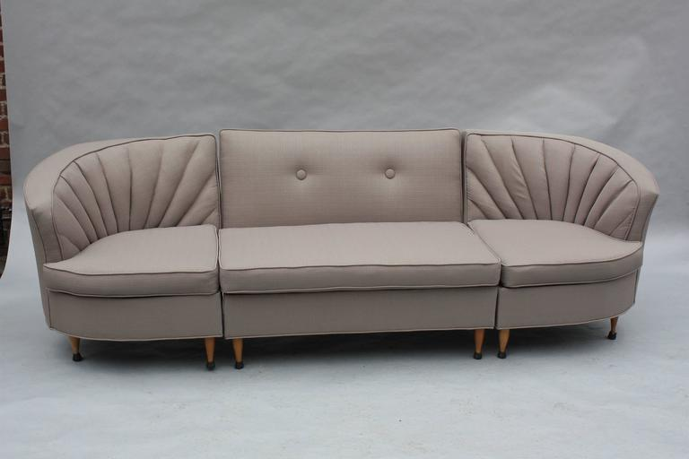 North American Mid-Century Modern 1960s Sectional Sofa For Sale