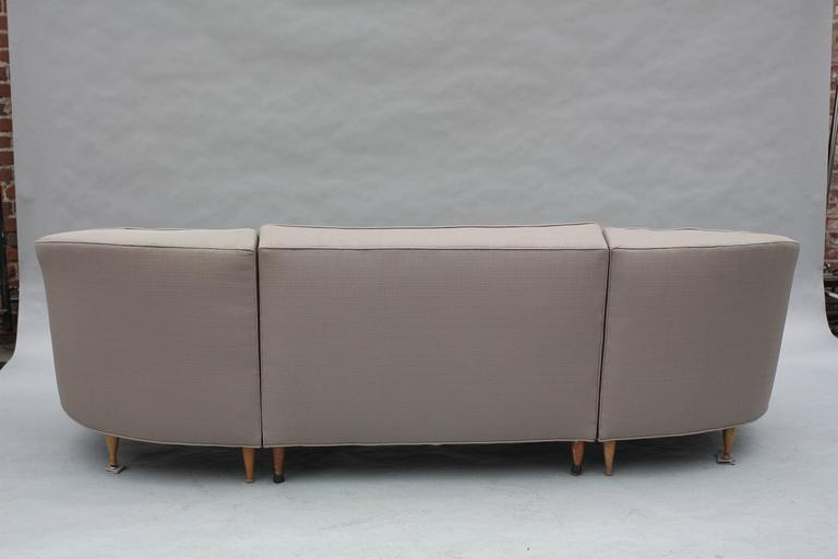 Mid-Century Modern 1960s Sectional Sofa In Good Condition For Sale In Pasadena, CA