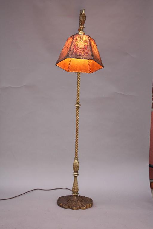 Bridge Lamp With Griffin Motif Base At 1stdibs