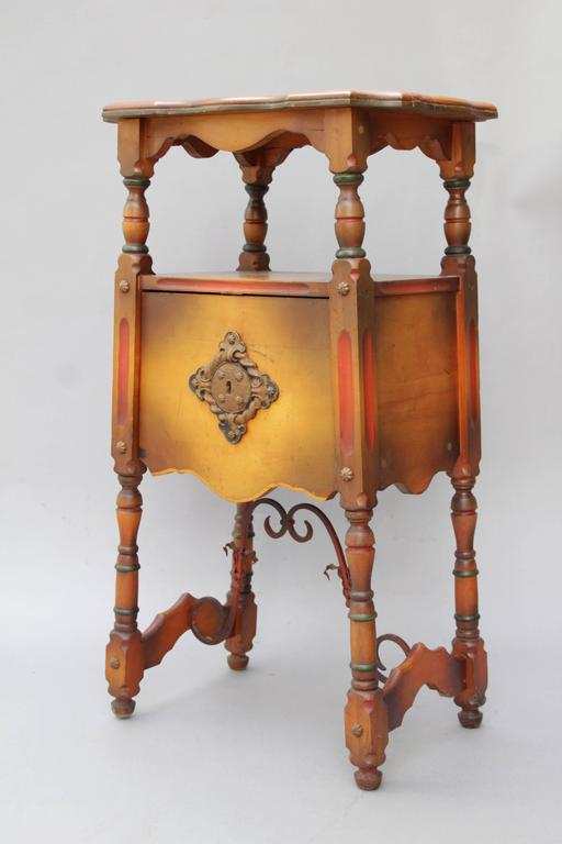 1920s spanish revival table or nightstand with california for Spanish revival tile