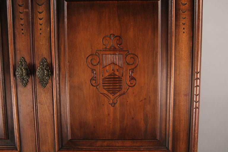 1920s Carved Walnut Cabinet 7