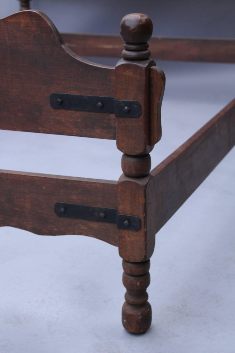 Antique Early California Spanish Revival Bed From The
