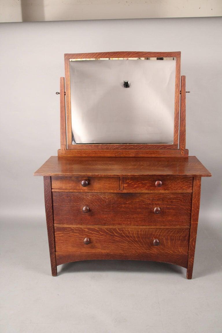 Antique Arts And Crafts Gustav Stickley Dresser With