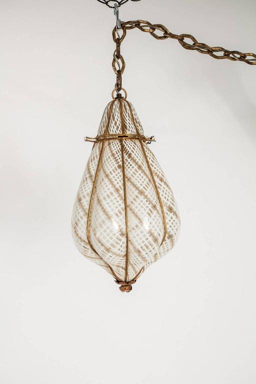 Blown Glass Hanging Light Fixture At 1stdibs