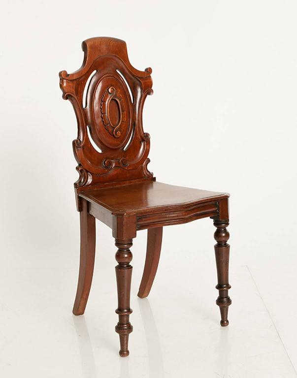 19th Century Mahogany Hall Chairs For Sale