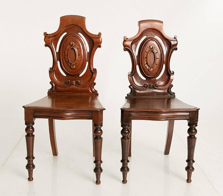 Mahogany Hall Chairs For Sale 1