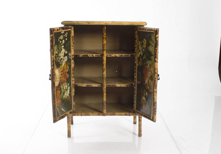 Decoupage Bamboo Cabinet at 1stdibs