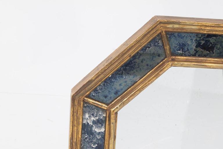 Art Nouveau Octagonal Mirror For Sale