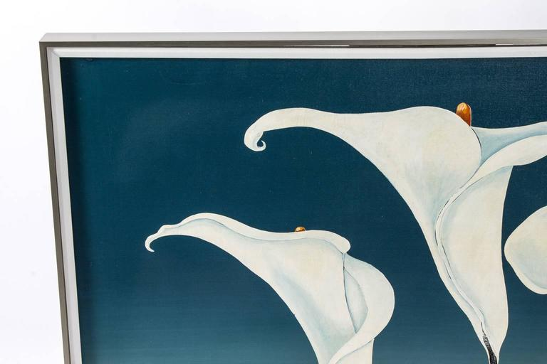 Calla Lily Oil Painting In Good Condition For Sale In Stamford, CT