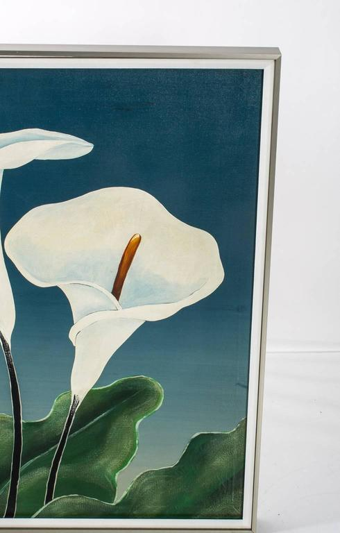 20th Century Calla Lily Oil Painting For Sale