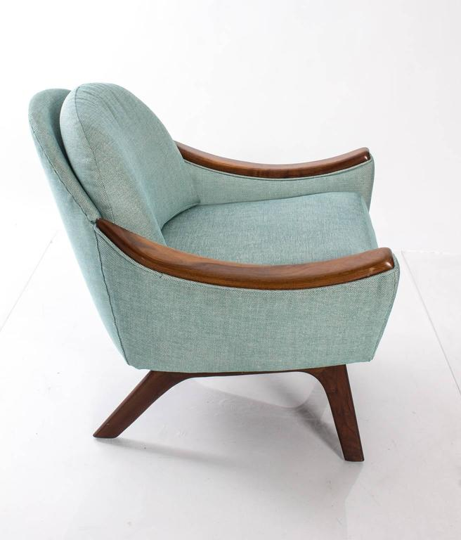 "Adrian Pearsall for Craft Association ""His and Hers"" Lounge Chairs For Sale 1"