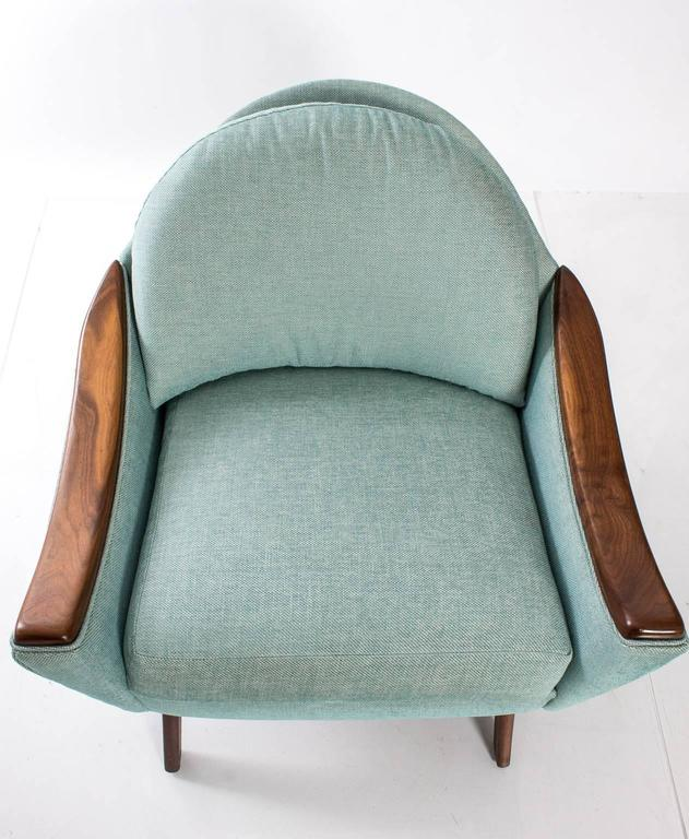 """Adrian Pearsall for Craft Association """"His and Hers"""" Lounge Chairs For Sale 3"""