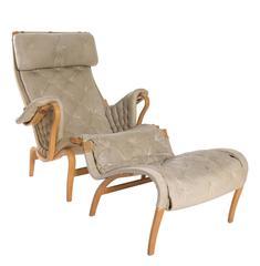 Bruno Mathsson Chair and Ottoman