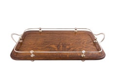 Oak and Silver Tray