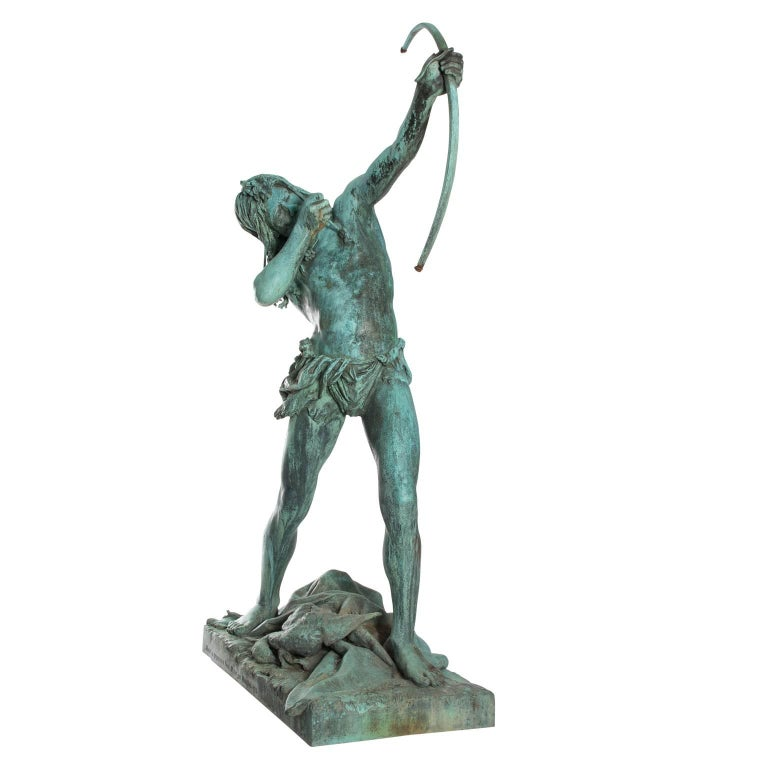 Bronze Figure of a Young Native American