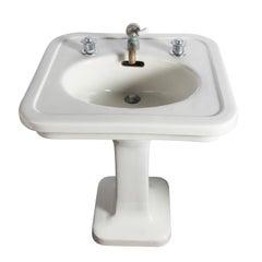 Small China Pedestal Sink