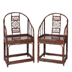 Pair of Modern Chinese Bamboo Armchair