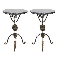 Pair of Wrought Iron Gueridons