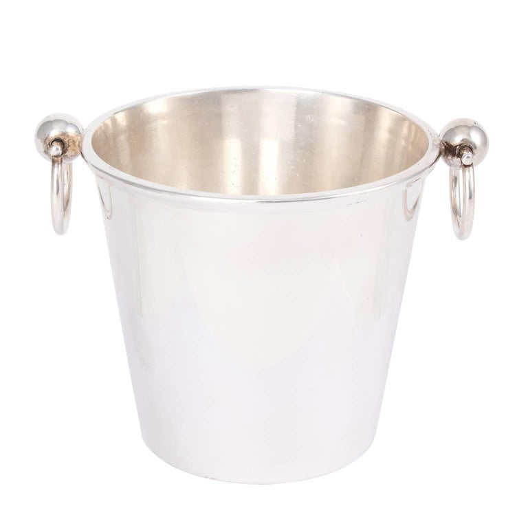 1950s English Silver Plated Ice Bucket