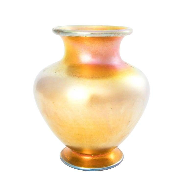 Tiffany Studio Iridescent Glass Vase