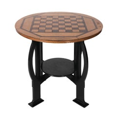 Wood Art Deco Game Table