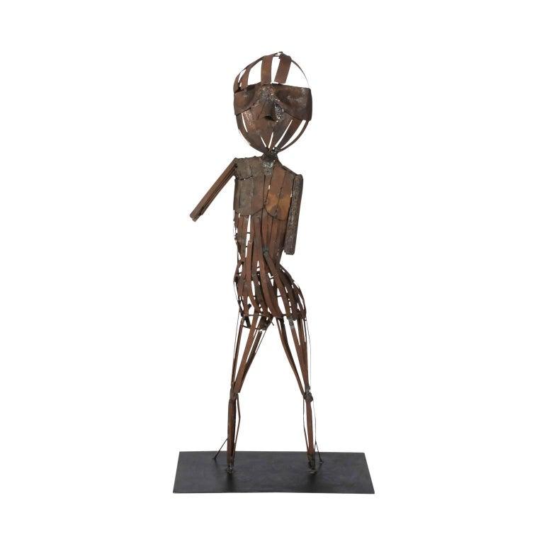 Brutalist Steel Sculpture  For Sale