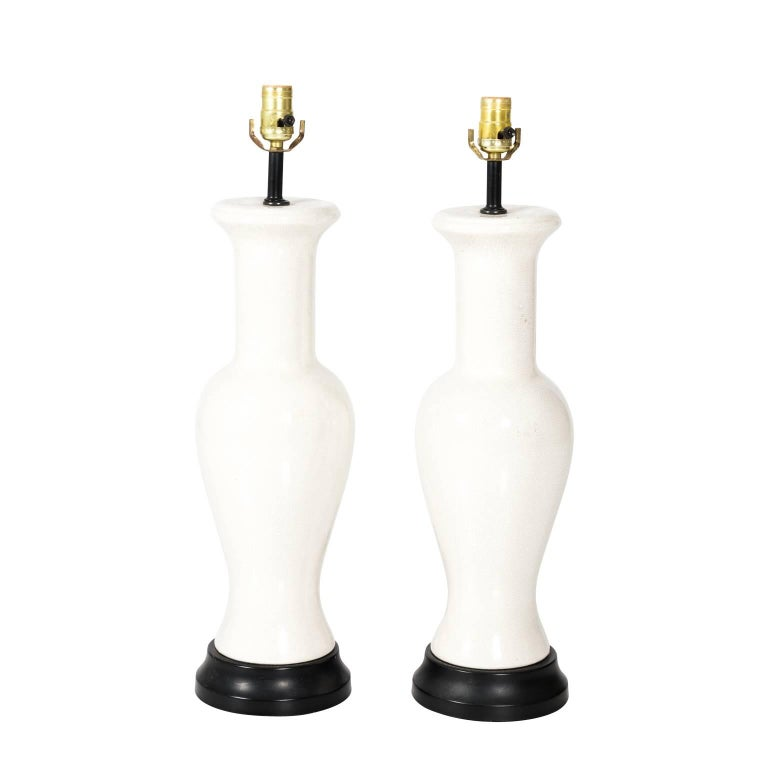 Pair of Asian Style Porcelain Lamps