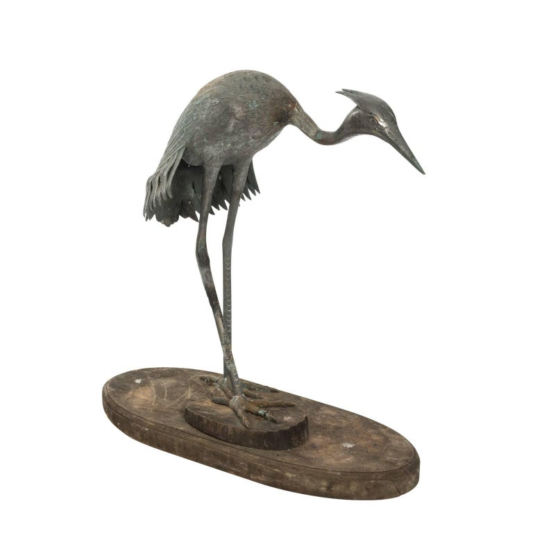 bronze crane figure circa 1800 for sale at 1stdibs. Black Bedroom Furniture Sets. Home Design Ideas
