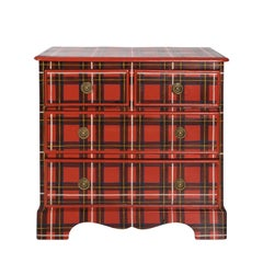 Victorian Plaid Painted Chest