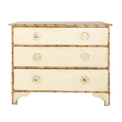 English Faux Bamboo Painted Chest