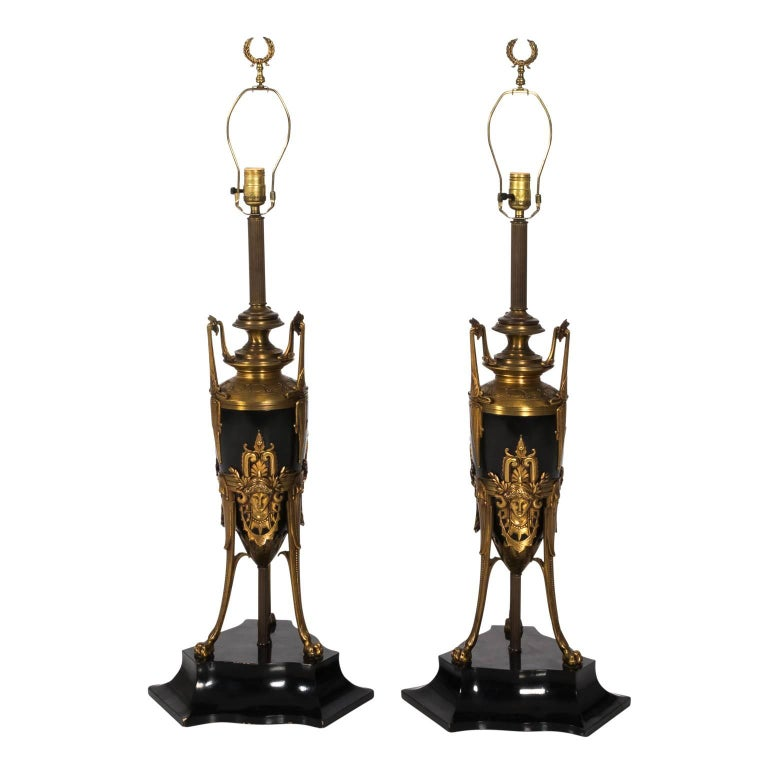 Pair of Aesthetic Style Urn Lamps