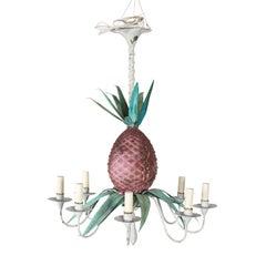 Metal Pineapple Chandelier
