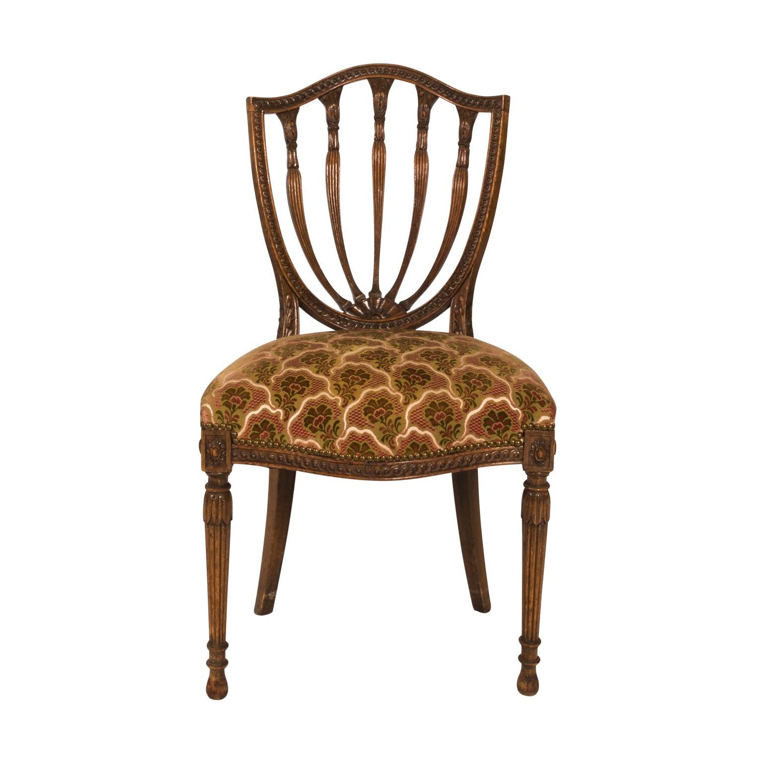 English Hepplewhite Chair, circa 1910
