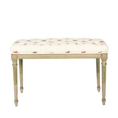 Louis XV Style Tufted Bench