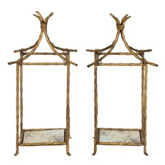 Pair of Chinoiserie Style Candleholders