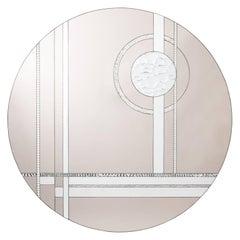 Art Deco Round Mirror
