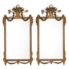 Pair of Gilded Neoclassical Mirrors